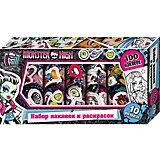 Набор наклеек и раскрасок в коробке, Monster High