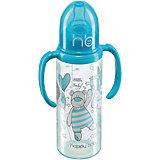 Бутылочка с двумя силиконовыми сосками, 250 мл, Happy Baby, голубой