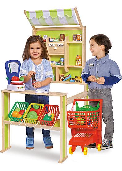 Kaufladen Mit Markise Holz Von Eichhorn ~ Kaufladen mit Theke und Markise, Eichhorn myToys