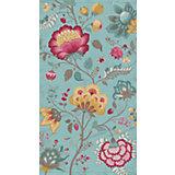 Strandtuch Floral Fantasy, Velours, 100 x 180, petrol