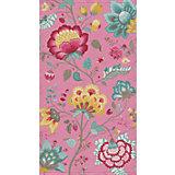 Strandtuch Floral Fantasy, Velours, 100 x 180, pink