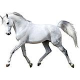 Wandsticker Pferd, weiß, 67 x 47 cm