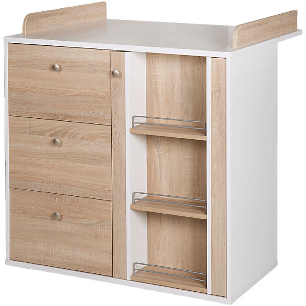 kleiderschrank anika 3 t rig wei sonoma eiche s gerau hell roba mytoys. Black Bedroom Furniture Sets. Home Design Ideas