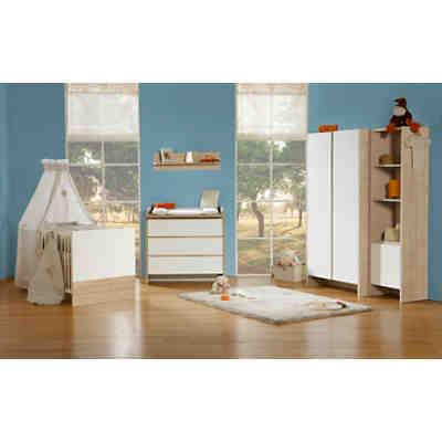 sparset opal kinderbett wickelkommode schmal schlamm sonoma eiche roba mytoys. Black Bedroom Furniture Sets. Home Design Ideas