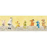 Bordüre, Die Lieben Sieben, gelb, 17 cm x 5 m
