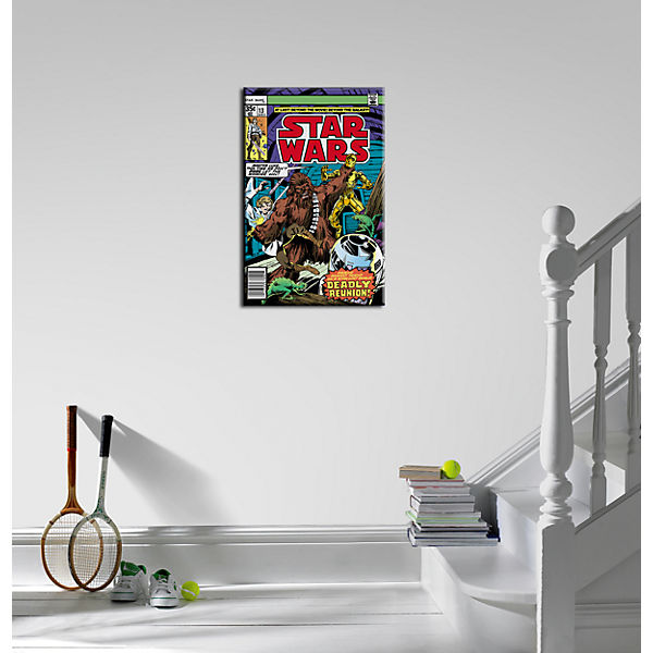 Canvas Wandbild, Star Wars Chewbacca, 50 x 70 cm