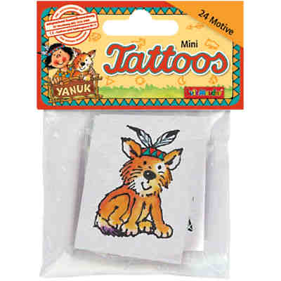 Mini-Tattoo-Set Indianer Yanuk, 24-tlg.