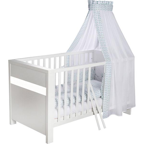 komplett kinderzimmer planet white 3 tlg kinderbett wickelkommode und 5 t riger. Black Bedroom Furniture Sets. Home Design Ideas