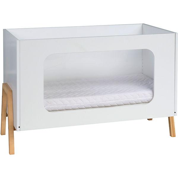 kinderbett holly nature mit pflexiglasf llung 60x120 cm wei altm hlbuche schardt mytoys. Black Bedroom Furniture Sets. Home Design Ideas