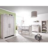 Komplett Kinderzimmer Nordic Cascina, 3-tlg. (Kinderbett, Umbauseiten, Wickelkommode und Kleiderschrank 2-trg.), Cascina Pinie