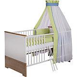 Kinderbett Eco Plus, 70x140 cm, weiß/Halifax Eiche