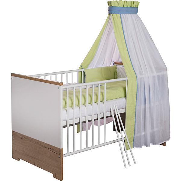 kinderbett eco plus 70x140 cm wei halifax eiche schardt mytoys. Black Bedroom Furniture Sets. Home Design Ideas