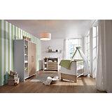 Komplett Kinderzimmer Eco Plus, 3 tlg., (Kinderbett, Wickelkommode und Kleiderschrank 2-trg.), weiß/Halifax Eiche