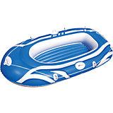 Надувная лодка с двухкамерным бортом, Bestway, голубая