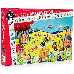 Пазл и игра на наблюдательность «Сказки», 54 детали, DJECO