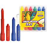 """Набор мелков """"3 в 1"""": пастель, акварель, пальчиковые краски, 6 цветов"""