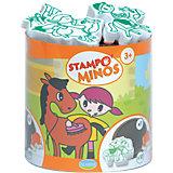 Aladine STAMPO'MINOS Midi-Stempelset Pferde, 11-tlg.