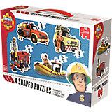Konturenpuzzle 8/10/12/14 Teile - Feuerwehrmann Sam