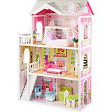 myToys Großes Puppenhaus inkl. Möbel, für 29cm-Puppen