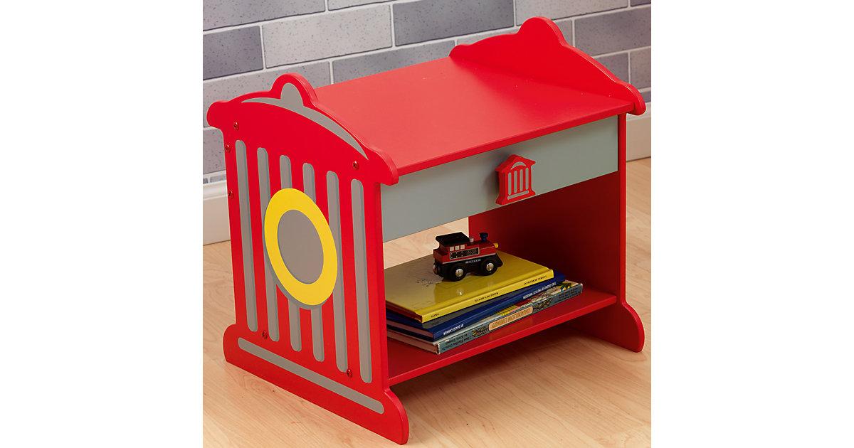 Nachttisch im Feuerwehrdesign rot