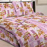 """Розовый комплект """"Мишки"""" 1,5-спальный (наволочка 50х70см), Letto"""