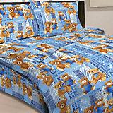 """Голубой комплект """"Мишки"""" 1,5-спальный (наволочка 50х70см), Letto"""