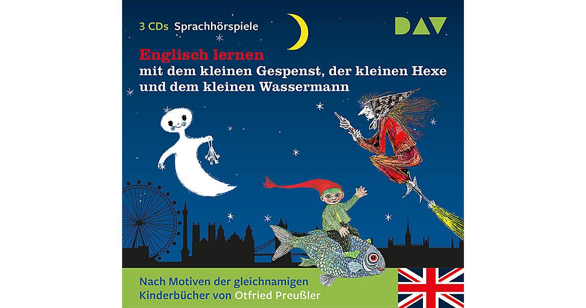 Englisch lernen mit dem kleinen Gespenst, der kleinen Hexe und dem kleinen Wassermann, 3 Audio-CDs Hörbuch