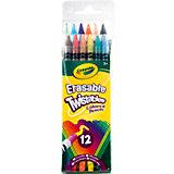 Набор выкручивающихся карандашей, 12 шт., Crayola