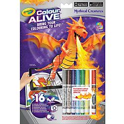 """Интерактивная раскраска Colour Alive """"Драконы"""", Crayola"""
