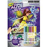 """Интерактивная раскраска Colour Alive """"Заколдованный сад"""", Crayola"""