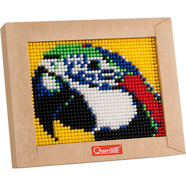 """Пиксельная мозаика """"Попугай"""",1200 элементов, Quercetti"""