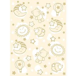 Одеяло байковое Звёздная ночь, 85х115, Baby Nice, бежевый