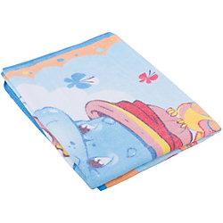 Одеяло байковое Бегемот и Попугай, 100х140, Baby Nice, голубой