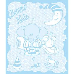 Одеяло байковое Слоник 100х118, Baby Nice, голубой