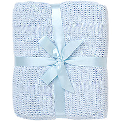 Одеяло детское вязанное 90х120 Baby Nice, голубой