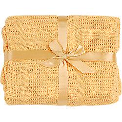 Одеяло детское вязанное 100х140 Baby Nice, желтый