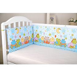Борт в кроватку Звездопад, Baby Nice, голубой