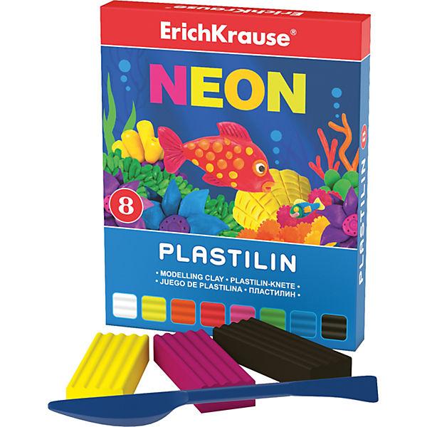 Пластилин Neon (8 цветов, 144г + стек), Artberry
