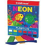 Пластилин Neon (12 цветов, 216г + стек), Artberry