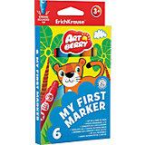 """Закругленные фломастеры """"My First Marker"""" (6 цветов), Artberry"""