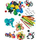 Kreativ-Partyset 24 Pompom-Tiere