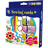 Kreativset Stickkarten, 8 Karten inkl. Fasermalern