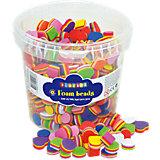 Moosgummi-Perlen, 500 Stück bunt sortiert