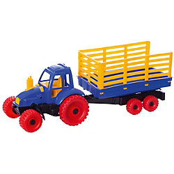 Трактор с прицепом, в ассортименте, Нордпласт