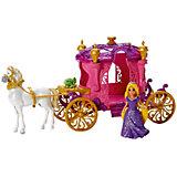 Кукла Рапунцель/Золушка, в наборе с каретой и лошадью, Принцессы Дисней, Mattel, в ассортименте