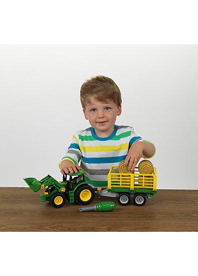 klein john deere traktor mit anh nger und pflug klein mytoys. Black Bedroom Furniture Sets. Home Design Ideas