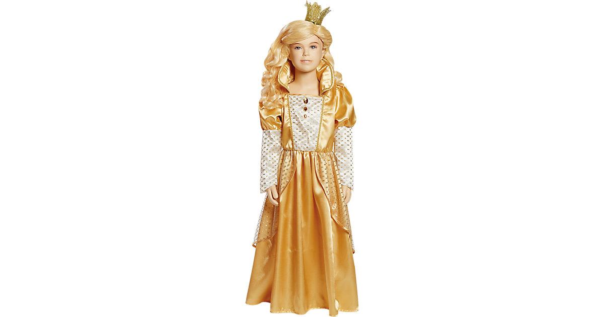 Kostüm Prinzessin gold Gr. 128 Mädchen Kinder