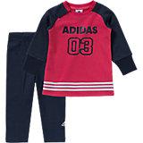 adidas Performance Baby Set: Sweatshirt + Leggings für Mädchen