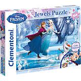 Puzzle 104 Teile - Die Eiskönigin (mit Glitzsteinen)