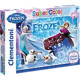 Glitter Puzzle 104 Teile - Die Eiskönigin